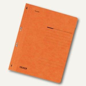 Falken Ösenhefter, 1/1 Vorderdeckel, orange, 80003924