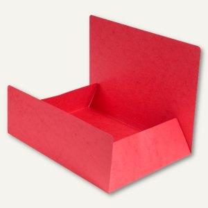 Exacompta Aktenmappe / Jurismappe DIN A4, Karton 400 g/m², rot, 56403E