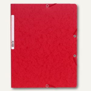 Exacompta Eckspannmappe DIN A4 aus Karton, für 250 Blatt, rot, 5515E