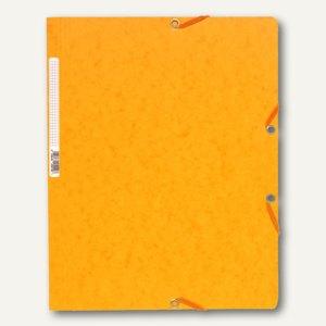 Exacompta Eckspannmappe DIN A4 aus Karton, für 250 Blatt, gelb, 5519E