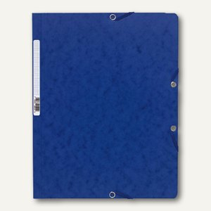 Exacompta Eckspannmappe DIN A4 aus Karton, für 250 Blatt, dunkelblau, 5512E