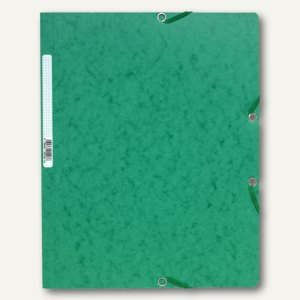 Exacompta Eckspannmappe DIN A4 aus Karton, für 250 Blatt, dunkelgrün, 5513E