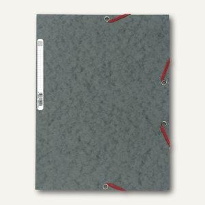 Exacompta Eckspannmappe DIN A4 mit Klappen, für 400 Blatt, grau, 55511E