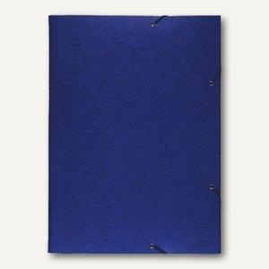 Exacompta Sammelmappe DIN A3, mit Klappen, aus Karton, blau, 59507E