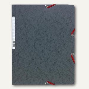 Exacompta Eckspannmappe DIN A4 aus Karton, für 250 Blatt, grau, 5571E