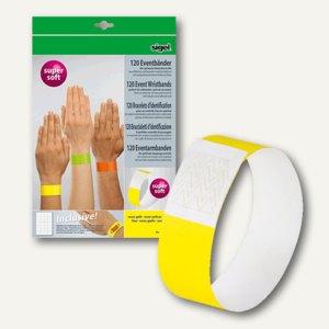 """Sigel Eventbänder """"Super Soft"""" + Etiketten, 255x25mm, neon gelb, 120 St., EB213"""