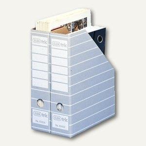 Elba Stehsammler für DIN A4, Wellpappe, grau/weiß, 10 Stück, 100552043