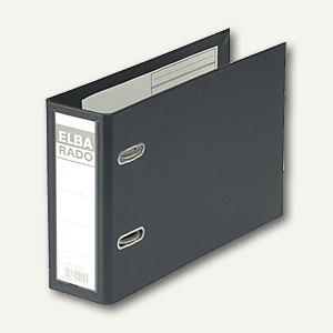 Elba Ordner RADO-Plast DIN A5 quer, 75 mm, schwarz, 100022638