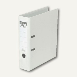 Elba Ordner RADO-Lux-Brillant DIN A4, 80mm, weiß, 100022618