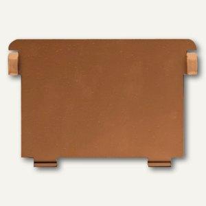HAN Metallstützplatte Nr. 6 DIN A6 quer, braun, HAN-6