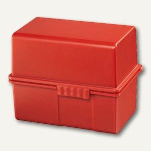 HAN Karteibox DIN A8, bis 200 Karten, inkl. 100 Karten & Register, rot, 978-17