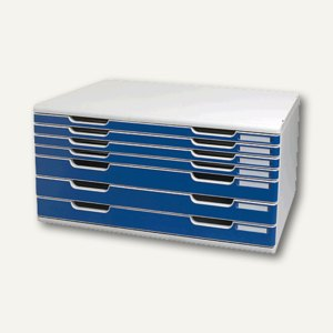 Multiform Büroboxen, DIN A3, 7 Laden, B 573 x T 350 x H 320 mm, blau, 323003D