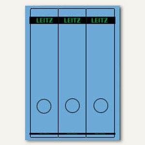 LEITZ Rückenschilder, PC-Beschriftung, breit/lang, blau, 75 Stück, 1687-00-35