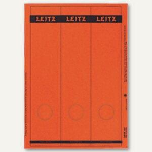 LEITZ Rückenschilder, PC-Beschriftung, breit/lang, rot, 75 Stück, 1687-00-25