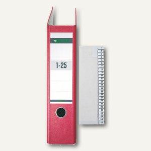 LEITZ Registerserie DIN A4, Nummernregister 1-25, 1381-00-85