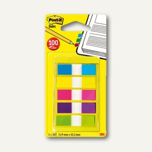 Post-it Index Mini Etui - 12.7 x 43.7 mm, sortiert, 6835CBEU