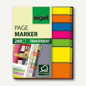 Haftmarker transparent, 5 x Micro & 2 x Mini, 5 Farben sortiert 280 Bl., HN616