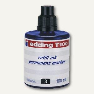 Edding Nachfülltusche T 100, blau, permanent, 100 ml, T100-03