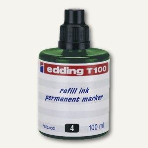 Edding Nachfülltusche T 100, grün, permanent, 100 ml, T100-04