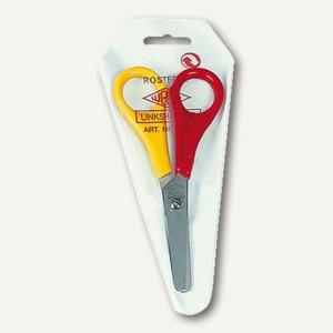 Wedo Bastelschere für Linkshänder, mit Zentimeter-Skala, rund, 2-farbig, 7751