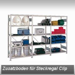 Meta Steckregal Clip, Zusatzboden, B100 x T60 cm, verzinkt, 3099