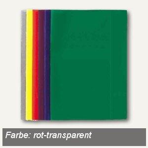 Landré Heftschoner DIN A4, rot-transparent, 25 Stück, 100420074