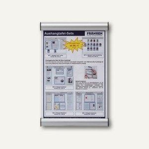 Franken Türschild mit Cliprahmen, Acrylglas, 330 x 215 mm, silber, BS0605