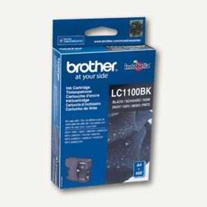 Brother Tintenpatrone, schwarz, bis zu 450 Seiten, LC1100BK