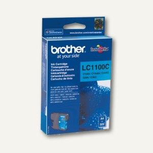 Brother Tintenpatrone cyan, bis zu 325 Seiten, LC1100C
