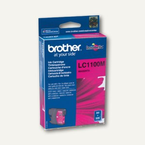 Brother Tintenpatrone magenta, bis zu 325 Seiten, LC1100M