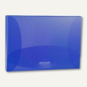 Sammelbox Trend, A4 quer, 325x246 mm, PP 800 my, blau-transparent, 27225.810