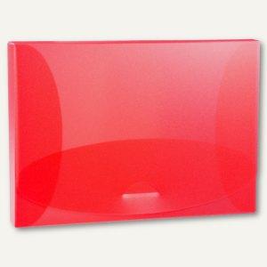 Sammelbox Trend, A4 quer, 325x246 mm, PP 800 my, rot-transparent, 27225.820