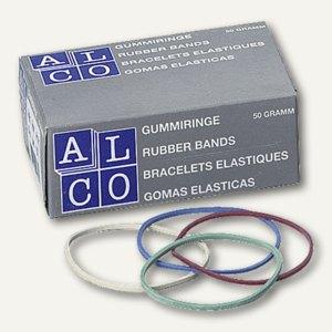 Alco Gummiringe, Ø 65 mm, bunt, 50 g/Packung, 735