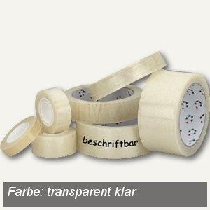 officio Klebeband, beschriftbar & kopierfähig, klar, 12 mm x 10 m, 12 St.
