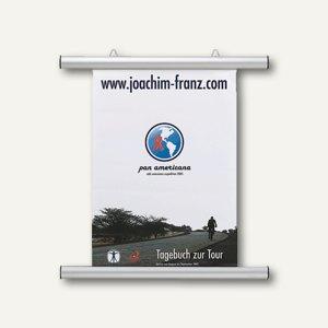 Franken Plakatschienen zum Aufhängen, 42cm, Aluminium, silber, BS1001