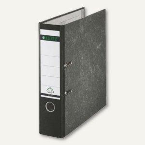 LEITZ Standardordner 180°, Rückenbreite 80 mm, wolkenmarmor/schwarz, 1080-50-95