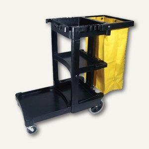 """Reinigungswagen """"Janitor Cart"""", 1.168 x 552 x 975 mm, PP, schwarz, 6173-01-BLA"""