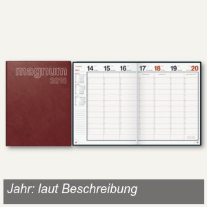"rido-idé Dohse Buchkalender ""magnum Catana"", 19 x 24,5 cm, bordeaux, 702704229"