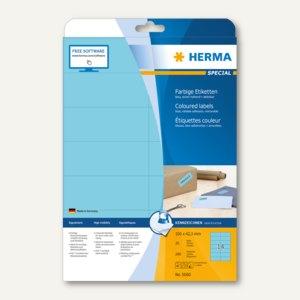"""Herma Etiketten """"SPECIAL"""", DIN A4, 105x42.3 mm, blau, 280 Stück, 5060"""