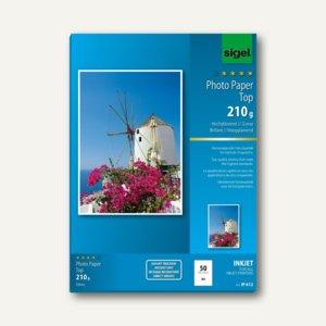 "Sigel Fotopapier ""Top"", DIN A4, 210 g/m², glossy, 50 Blatt, IP612"