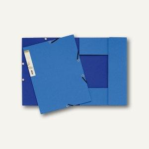 Eckspannmappe forever A4 dunkelblau/hellblau