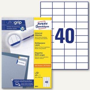 Zweckform Universal-Etiketten, 52.5 x 29.7 mm, weiß, 4.000 Stück, 3651