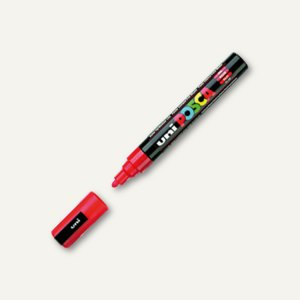 Faber-Castell uni Lackmarker POSCA, Rundspitze -2.5mm, rot, 182521