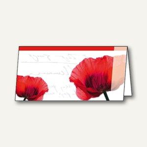 """Sigel Design-Faltkarten """"Fiori"""", DIN lang, 220 g/m², rot, 25 Stück, DC175"""