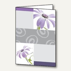 """Sigel Design-Faltkarten """"Emotion"""", DIN A6 (A5), 220 g/m², violett, 25St., DC174"""