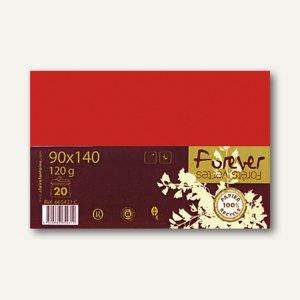 "Clairefontaine Umschläge C6 im PPP ""forever"", 120g/m², rot, 20 Stück, 665586C"