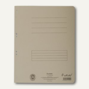 Exacompta Ösenhefter 1/1 Vorderdeckel, m. Organisationsdruck, grau, 351510B