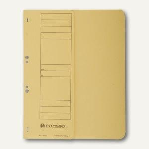 Exacompta Ösenhefter, 1/2 Vorderdeckel, mit Organisationsdruck, gelb, 351604B