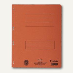 Exacompta Ösenhefter, 1/1 Vorderdeckel, mit Organisationsdruck, orange, 351509B