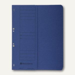 Exacompta Ösenhefter, 1/2 Vorderdeckel, mit Organisationsdruck, blau, 351607B